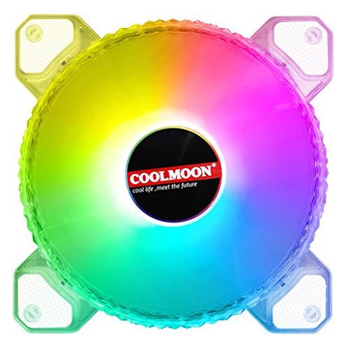 Cgration COOLMOON 12 cm 4PIN 12 V ventilador de refrigeración para chasis de escritorio CPU PWM 3PIN ARGB AURA radiador refrigerador