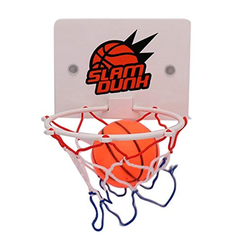 shizhongminghe-UK Portable Funny Mini Basketball Hoop Toys Kit Indoor Home Basketball Fans Sports Game Toy Set Kids Children Adults white