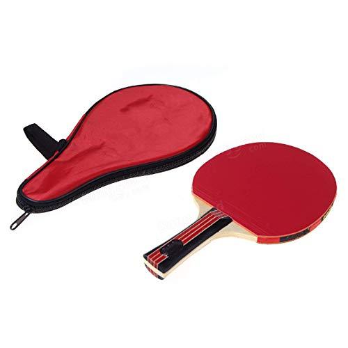 Paleta De Ping Pong Raqueta De Tenis De Mesa Con Mango Largo, Bolsa Impermeable, Bolsa Roja, Accesorio De Tenis De Mesa Interior Para Juegos De Interior Y Exterior (Size:Free Size; Color:Red)