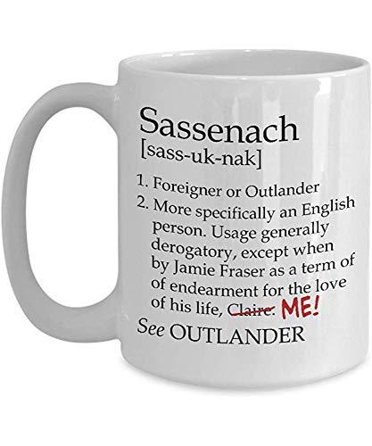 Cerámica Copa,Taza Sassenach Definición Sassenach Revisado Divertido Outlander Jamie Tazas De Café...