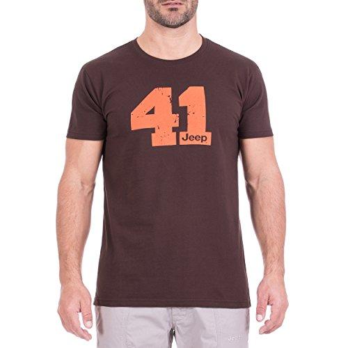 Jeep t-Shirt o100989-m265, Iconica Homme XXL Black Coffe/Orange Red