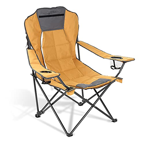ARROWHEAD OUTDOOR Portable Folding Hybrid 2-in1 Camping Chair, Adjustable Vent & Padding, Cup Holder...