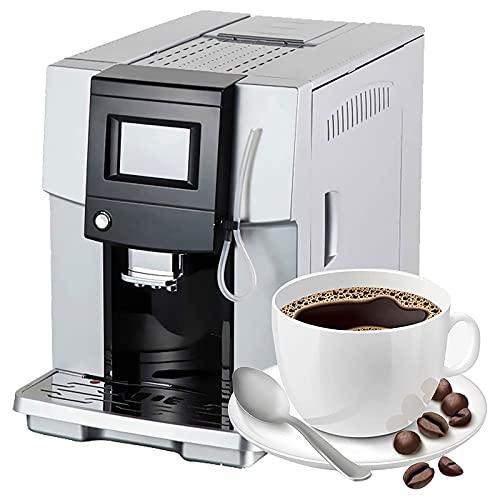 WSJTT Automatyczna ekspres do kawy,kawa espresso Cappuccino Maker z mlekiem frotheat przygotowuje gorące napoje (Color : Silver)