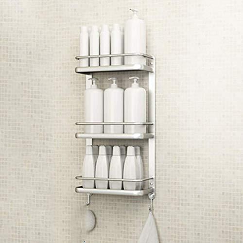 MENG Badregal Shelf Schlags-Free Space Aluminium Badezimmer Küche Rack-Badezimmer-Anhänger Badezimmer-Rack Handtuchwärmer Durable (Größe: 34 * 15 * 66cm), Größe: 34 * 15 * 66cm Duschraum Sims