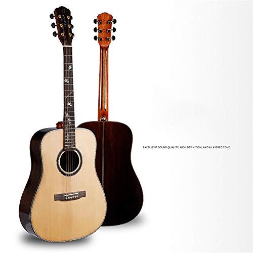 Ning Night Neue Volleinzelmassivholz-Gitarre Sitika Palisander Intarsien Real Color Shell Massivholz Volleinzel Gitarre 105 * 41,5 * 61