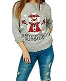 8055 605 Jersey para mujer, diseño de muñeco de nieve con pompón