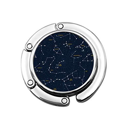 Vector Sky Map Sternbilder Sterne Andromeda L Taschenaufhänger für Tischhaken Taschenaufhänger Einzigartige Designs Faltfach Aufbewahrung Tisch Aufhänger für Geldbörsen