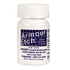 3-ounce bottle of armour etch crea Etchings are permanent Dishwasher-safe