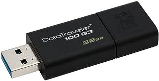 ذاكرة فلاش USB 3.00 بسعة تخزين 32 جيجا من كينجستون موديل DT100G3/32GB