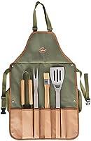 Bez etykiety - grill - narzędzia - 5 sztuk z fartuchem - RVS
