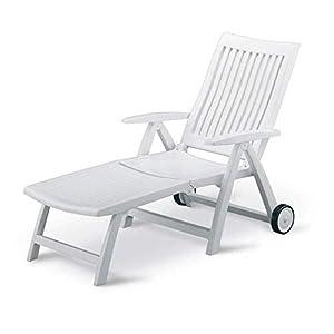 Kettler Roma Advantage Gartenliege weiß - klappbare Sonnenliege für Garten, Terrasse und Balkon - Rückenlehne mehrstufig…