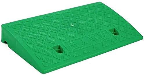 Rampas Vehículo multifunción rampas de pendiente plástico del cojín portable durable encintado Servicio Rampas Rampas Escaleras al aire libre fácil de llevar ( Color : Green , Size : 50*27*11CM )