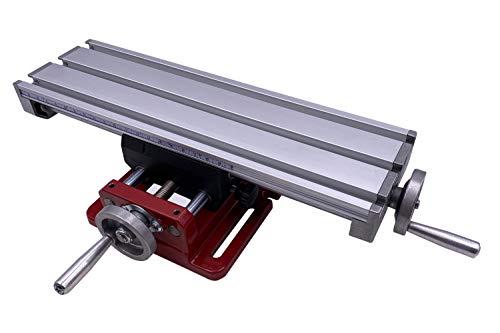 PAULIMOT Kreuztisch aus Aluminium 310 x 90 mm mit Rundsäulenführung