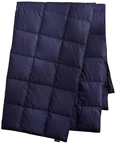 puredown Packable Down Throw Blanket, Down-proof Fabric, 50x70'', Navy, Duck