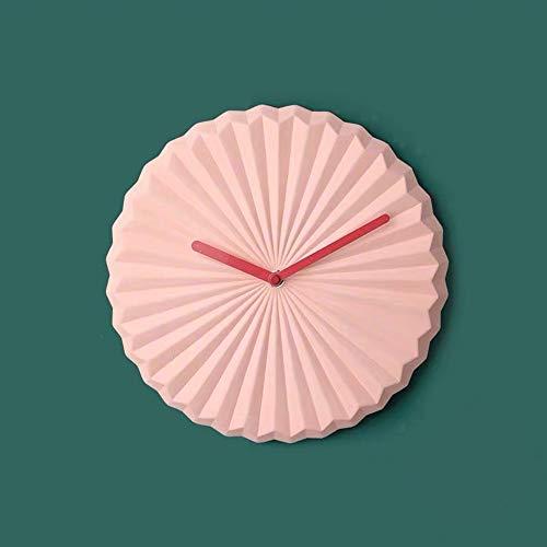 Bradoner Hoshikawa - Reloj de pared moderno y minimalista creativo para sala de estar, comedor, dormitorio, reloj de cuarzo y reloj electrónico silencioso de 25 x 25 x 4,2 cm