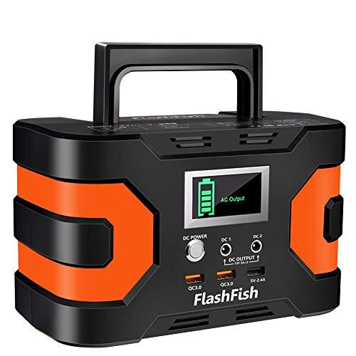 FlashFish ポータブル電源 大容量 小型発電機 45000mAh/166Wh AC(150W 瞬間最大200W) DC(120W) 家庭用蓄電池 USB出力 純正弦波 急速充電QC3.0搭載 三つの充電方法 ソーラー充電 ポータブルバッテリー キャ