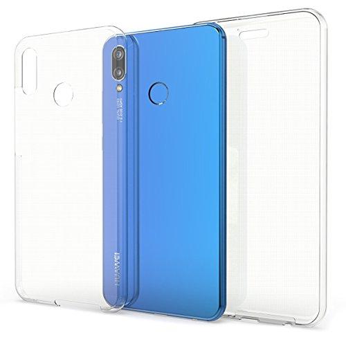 kwmobile Funda Compatible con Huawei P20 Lite - Carcasa Completa 360 para móvil - Cover Doble - Transparente