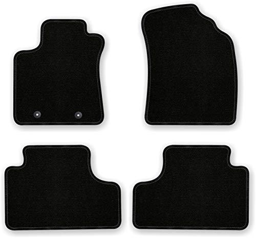 Bär-AfC TY03831 Basic Auto Fußmatten Nadelvlies Schwarz, Rand Kettelung Schwarz, Set 4-teilig, Passgenau für Modell Siehe Details