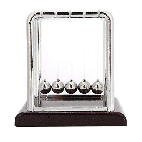 Garosa Clásico Newton's Cradle Laws Bolas de péndulo Newtons Cradle Balance Bolas oscilantes de Metal Decoración de Escritorio de Oficina para Juguetes de física de Oficina