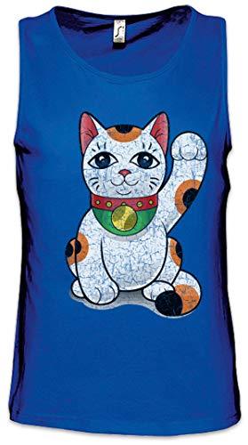 Preisvergleich Produktbild Urban Backwoods Maneki Neko VI Herren Männer Tank Top Training Shirt Blau Größe S