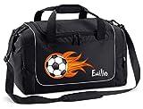Mein Zwergenland Sporttasche in Schwarz mit Namen
