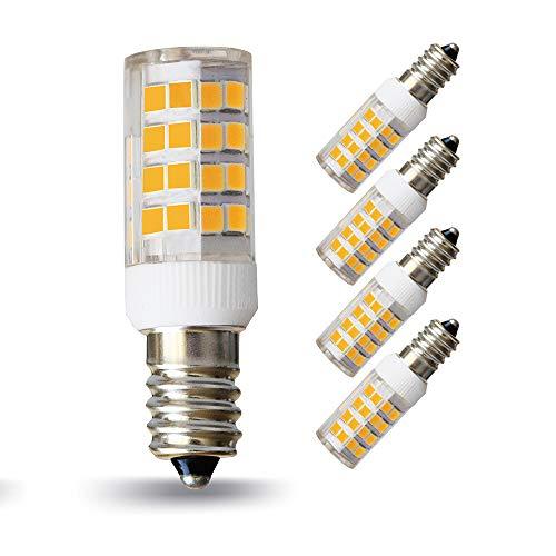 Lampaous LED E14 Lampe 5W, ersatz für 40W Glühbirne, 2700K Warmweiss, 360°Abstrahwinkel, LED Maiskolben- Lampen Birne für Dunstabzugshaube, Tischlampen, Deckenlampen, Hängendes Licht, 4er Pack