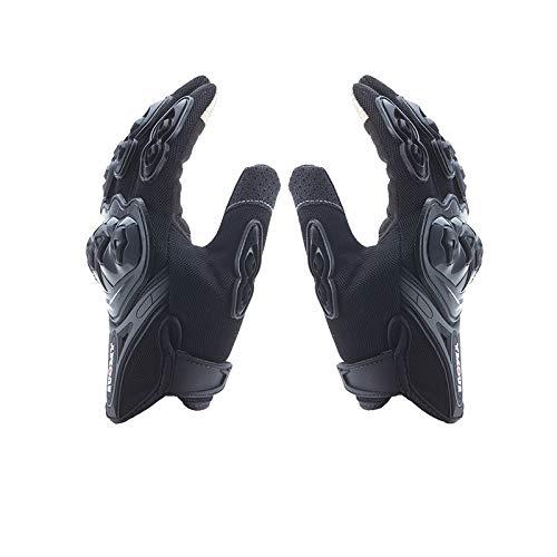 Lightinthebox Guantes de Moto para Dedo Completo Material de Nylon Waterproof y Antideslizante Guantes con Táctil Antiestática Dedo (Negro, M)