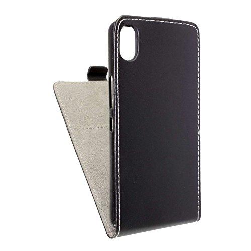caseroxx Flip Cover für BQ Aquaris X5, Tasche (Flip Cover in schwarz)