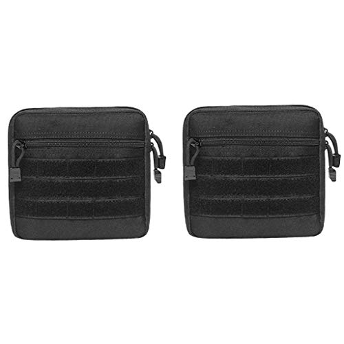 lahomia 2X Bag MOLLE Utility Pouch Compact Molle Waist Bag Negro