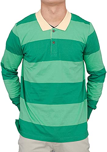 """Adult Halloween Costume""""Blue and Detective"""" Green Striped Shirt"""