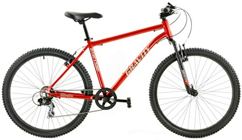 Gravity Basecamp V7 Aluminum Mountain Bike with Front Suspension and 7 Speeds (Burnt Orange, 18' fits Most Riders 5'8' to 5'11')