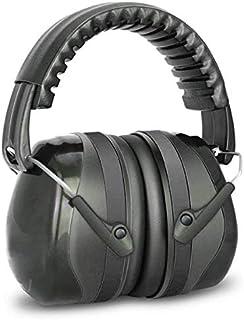 防音イヤーマフ 遮音ヘッドホン 遮音値34dB 折りたたみ型 超弾力性ヘッドバンド フリーサイズ 大人&子供用 自閉症 射撃 騒音対策 聴覚保護 (ブラック)