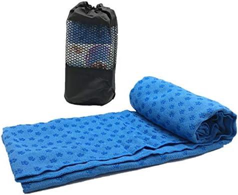 Trustloops Non Slip Yoga Mat Towel Sweat Absorbent Odorless Microfiber Bikram Hot Yoga Mat Cover product image