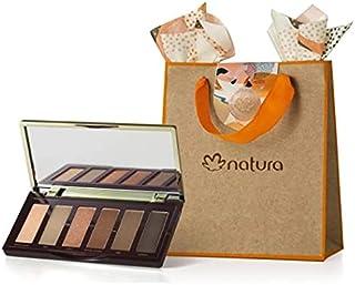 Kit Presente Palette de Sombras 6 Cores Natura Una + Sacola de Presente