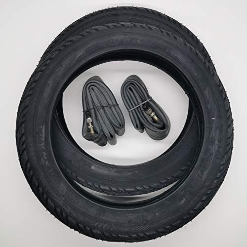 2x Duro Schwarz 12 Zoll Reifen & DV Schlauch 12 1/2 x 1.75 x 2 1/4 | ETRTO: 47-203 Fahrrad Kinderwagen Roller