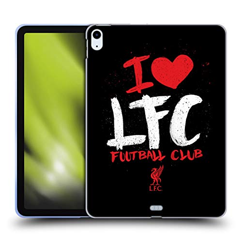 Official Liverpool Football Club I Love LFC Redmen Soft Gel Case Compatible for Apple iPad Air (2020)