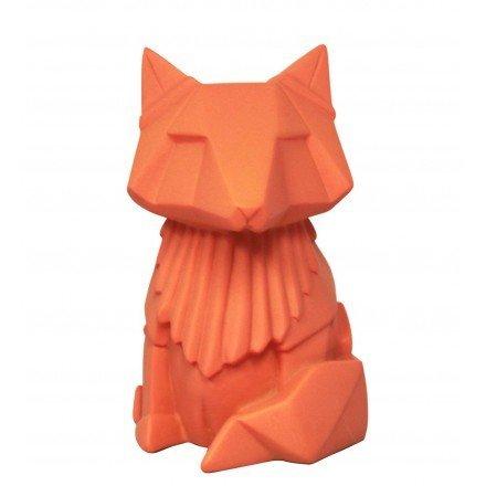 Night Light for Children. Fox in Orange, Small Size. in Origami Style. for Children Kids Room