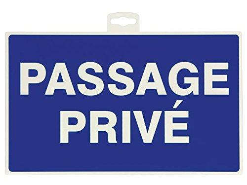 Provence Outillage 07506 Panneau Panneaux de Signalisation Passage Privé Bleu 33 x 22 cm