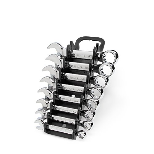 TEKTON Stubby Combination Wrench Set with Store and Go Keeper, 5/16-Inch - 3/4-Inch, 8-Piece | WRN01066
