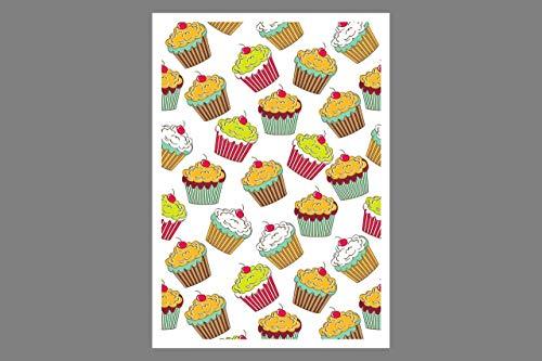 Postkarte - Cupcakes No3 - Geburtstagskarte Gutschein Einladungskarte