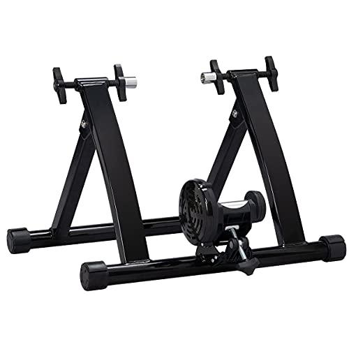 Yaheetech Rullo Allenamento Bici Indoor Allenatore Bici Pieghevole Magnetico per Bicicletta 26-28 Pollici e da 700C