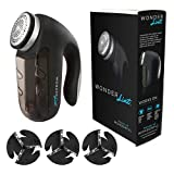 Highly Rated Wonder Lint Super Premium Fabric Shaver with Superior Power and Performance. Removes Lint, Fuzz, Pills and Bobbles in an instant. 5W Motor with Extra-Large Lint Collector for Faster Operation With Less Stopping. Comes With Storage Bag and 3 Sets of Blades