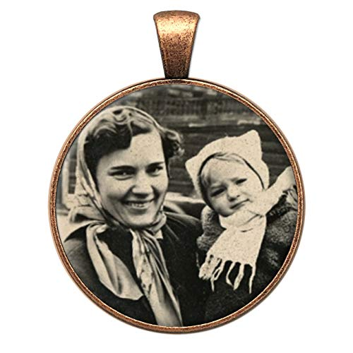 Memorial Wedding Day Bridal Flowers Bouquet Photo Charm Round Copper Picture Frame 1 Inch with Resizing Software