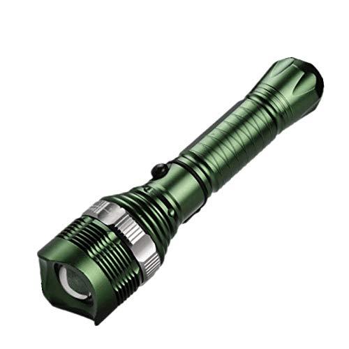 Linterna de Carga Reflectante LED giratoria Convertible al Aire Libre Remoto superbrillante Linterna-Negro
