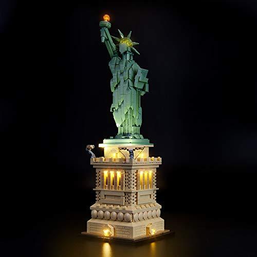 Briksmax Kit de LED pour La Statue de la Liberté, Compatible avec la maquette Lego 21042, La maquette de construction n'est pas incluse