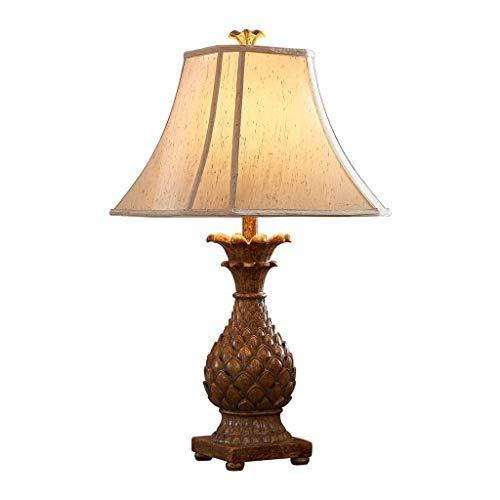 Hong Yi Fei-Shop Lampara Mesilla Tabla de América del Estilo de país de la lámpara de la Sala Dormitorio lámpara de cabecera Tabla de la Resina de la lámpara Lámpara de Mesa