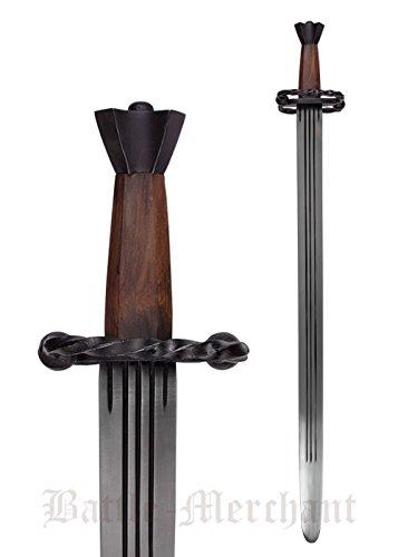 Battle-Merchant Katzbalger Schwert, für leichten Schaukampf, Landsknecht Schwert Mittelalter echt Metall Erwachsene
