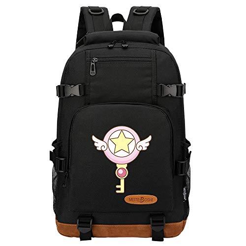 Leegt Hombres Y Mujeres Unisex Sailor Moon 17 Inches Mochila Backpack Para Portátil Ordenador, Impermiable Casual Espalda Uso Escolar Senderismo Viaje Regalo Hombres Mujeres