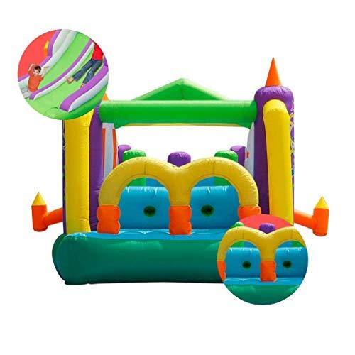 Zhihao Indoor Aufblasbare Hüpfburgen Haushaltsklein Trampolin Spiel Zaun Ozean Ball Pool Kinderspielplatz Frech Castle Spielzeug (127,9 * 220 * 86,6 Zoll) (Color : Green, Size : 325 * 560 * 220cm)