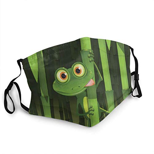 Fun Frog Safe - Máscara facial reutilizable de protección lavable para la boca y la nariz, transpirable, anti humo, polución para bicicleta, motocicleta y deporte
